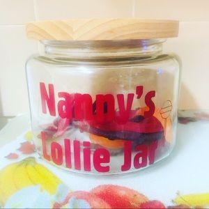 Personalised lollie jars